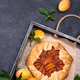 Sweet homemade galette pie with apricots - PhotoDune Item for Sale