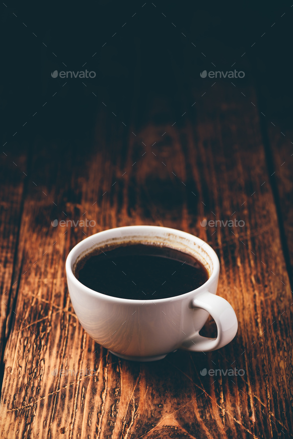 Cup of black coffee - Stock Photo - Images