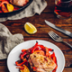 Baked chicken thighs with red bell peppers and lemon - PhotoDune Item for Sale
