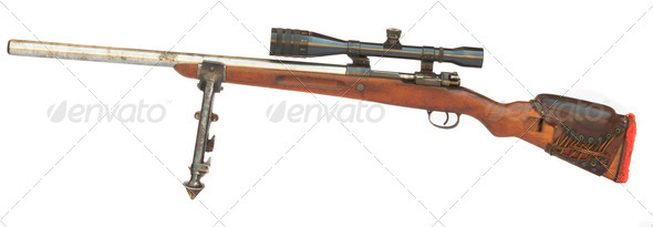 Old Sniper Rifle - Stock Photo - Images