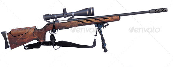 Sniper Rifle - Stock Photo - Images