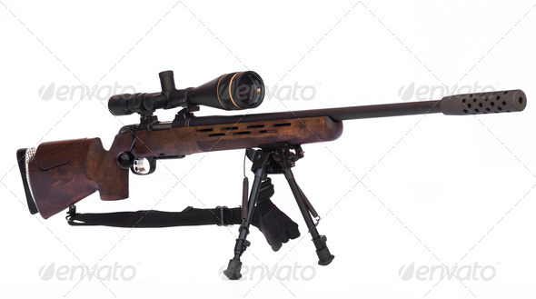 Sniper Rifle Side - Stock Photo - Images
