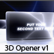 3d Opener v1 - VideoHive Item for Sale