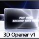 3d Opener v1 - VideoHive Item for Sale