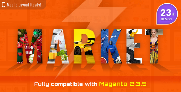 Market – Premium Responsive Magento 2 and 1.9 Store Theme with Mobile-Specific Layout (23 HomePages)