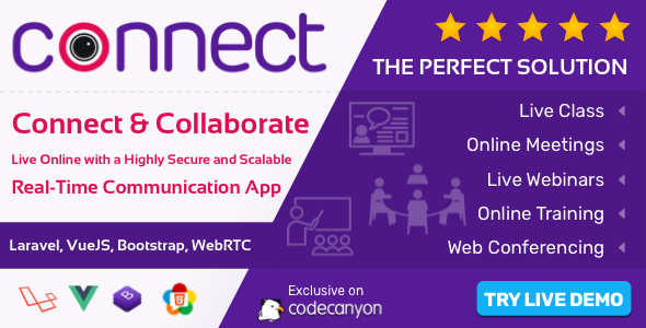 Download Connect – Live Class, Meeting, Webinar, Online Training & Web Conference Free Nulled