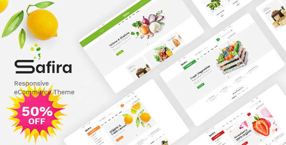 Safira - Food & Organic WooCommerce WordPress Theme