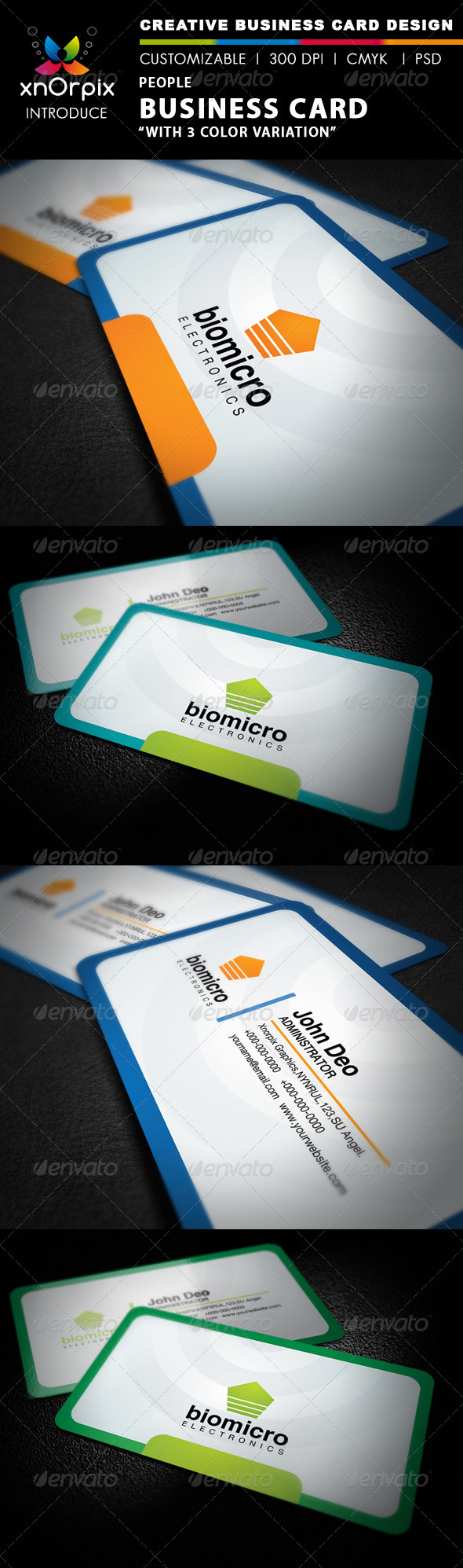 People Business Card - Corporate Business Cards