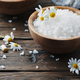 Concept of spa treatment with salt and daisy - PhotoDune Item for Sale