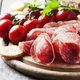 Fresh salami with tomato and bread - PhotoDune Item for Sale
