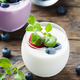 Healthy yogurt with berry and mint - PhotoDune Item for Sale