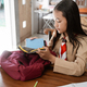 asian girl scout student preparing before going to school - PhotoDune Item for Sale