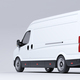 Commercial van truck on white background. Transport and shipping - PhotoDune Item for Sale