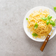 Pasta. Traditional italian food. Vermicelli with fresh basil - PhotoDune Item for Sale