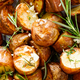 Baked potatoes with rosemary, thyme and garlic - PhotoDune Item for Sale