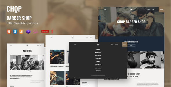 Chop - Barber Shop HTML Template
