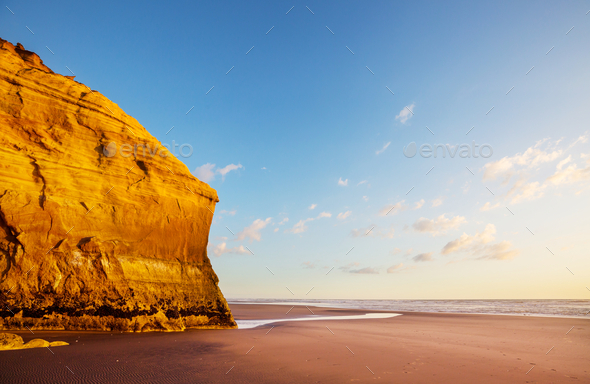 New Zealand coast - Stock Photo - Images