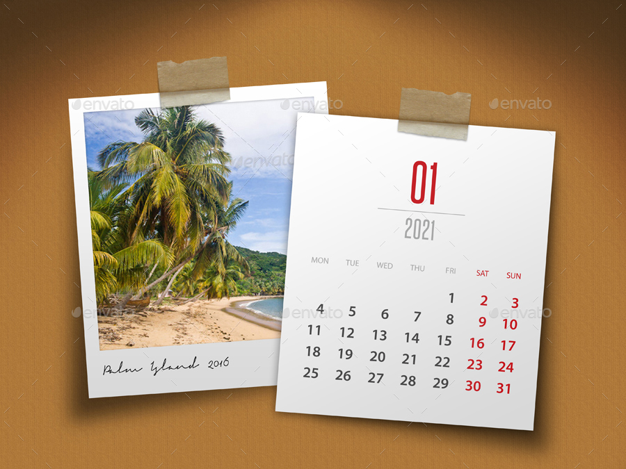 Customizable Calendar 2021 Photo Frame V04 by rapidgraf ...