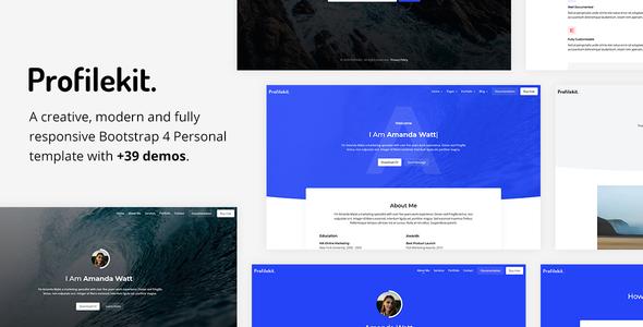 Beautiful Profilekit - Bootstrap Portfolio Template