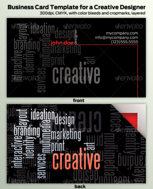 Creative Professional's Business Card - Creative Business Cards