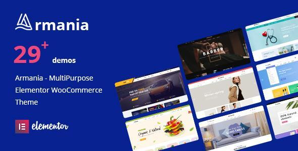 Download Armania – Multipurpose Elementor WooCommerce Theme (RTL Supported) Free Nulled