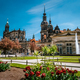 Dresden, Germany. Spring scene in historical cityscape, residence kings of Saxony Dresden Castle - PhotoDune Item for Sale