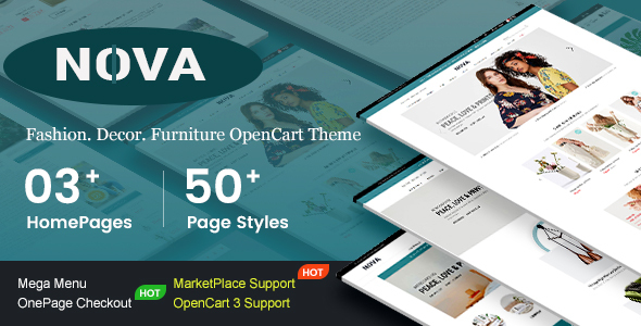 Nova – Responsive Fashion & Furniture OpenCart 3 Theme with 3 Mobile Layouts Included
