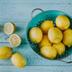 Fresh lemons in the colander - PhotoDune Item for Sale