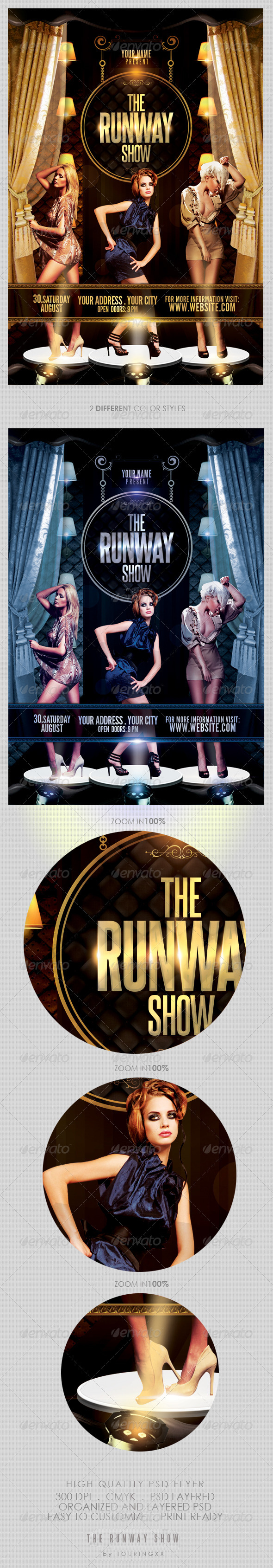 The Runway Show Flyer Template - Clubs & Parties Events