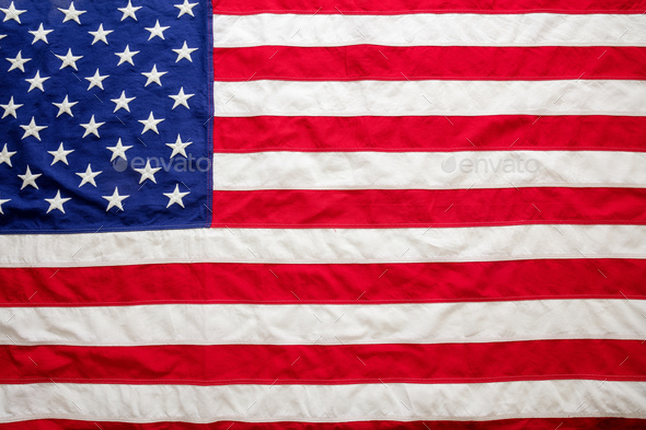 USA flag, US of America sign symbol background, top view - Stock Photo - Images