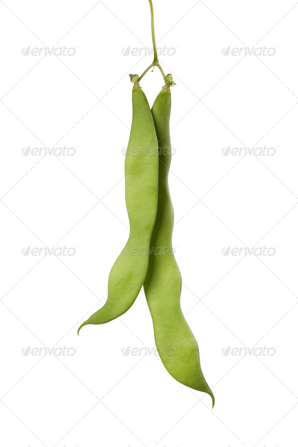 Fresh  Green pole beans - Stock Photo - Images