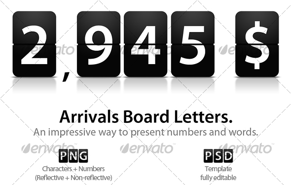 Arrivals Board Letters - Miscellaneous Backgrounds