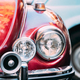 Close Up Headlight Of Old Retro Vintage Red Color Car - PhotoDune Item for Sale