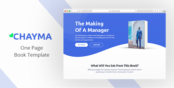 Chayma - Book Author Promotion Template
