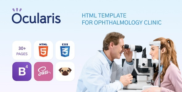 Exceptional Ocularis - Doctor Clinic Template