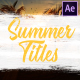 Colorful Summer Titles | After Effects - VideoHive Item for Sale