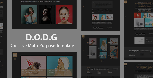 D.O.D.G - Creative Multi-Purpose Template