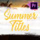 Colorful Summer Titles | Premiere Pro MOGRT - VideoHive Item for Sale