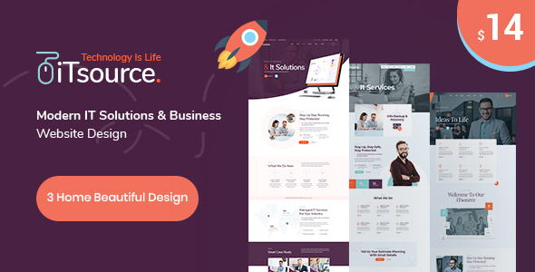 iTsource - IT Solutions & Services HTML Template