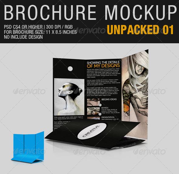 Brochure Mockup Unpacked 01 - Brochures Print