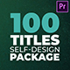 Adaptive Design Titles Pack - Premiere - VideoHive Item for Sale