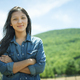 A young woman on a traditional farm in the countryside of New York State, USA - PhotoDune Item for Sale