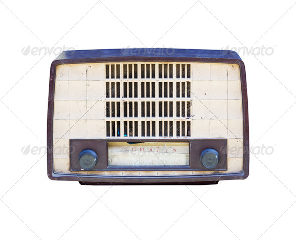 Old radio isolated 02 - Stock Photo - Images