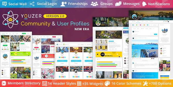 Youzer - Buddypress Community & Wordpress User Profile Plugin Nulled
