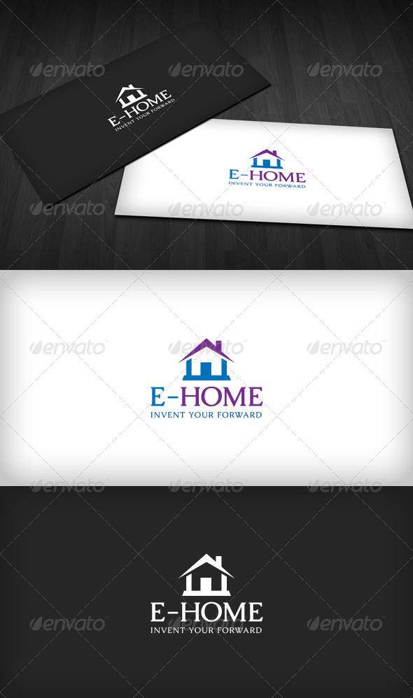 E-Home Logo - Letters Logo Templates