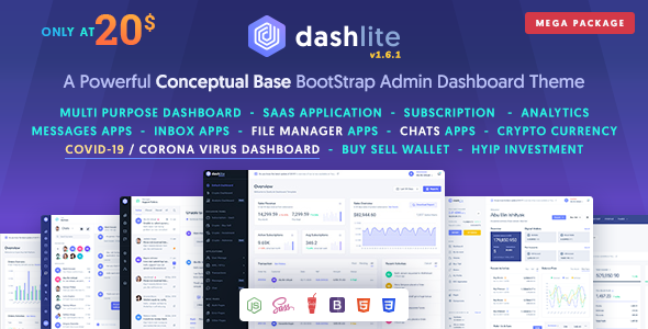 DashLite - Bootstrap Responsive Admin Dashboard Template Nulled