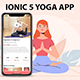 ionic 5 yoga workout / fitness App