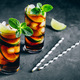 Rum and Cola Cuba Libre ice cold drink cocktail with lime and mint - PhotoDune Item for Sale