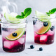 Blueberry and lime mojito or lemonade. Refreshing summer drink - PhotoDune Item for Sale