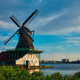 Windmills at Zaanse Schans in Holland. Zaandam, Nether - PhotoDune Item for Sale